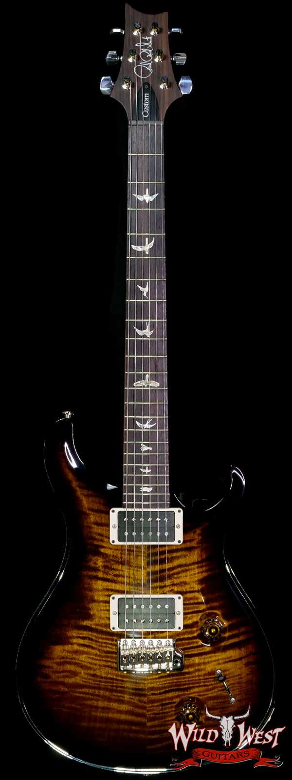 Paul Reed Smith PRS Core Flame Maple Tio Custom 22 Rosewood Fingerboard Black Gold Burst