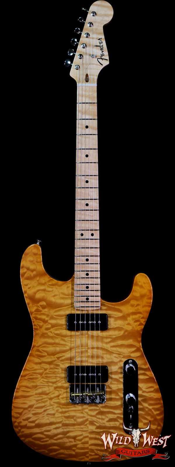 Fender Custom Shop Ron Thorn Masterbuilt Quilt Top Stratocaster P-90 Chambered Mahogany Body AA Flame Neck Honey Burst