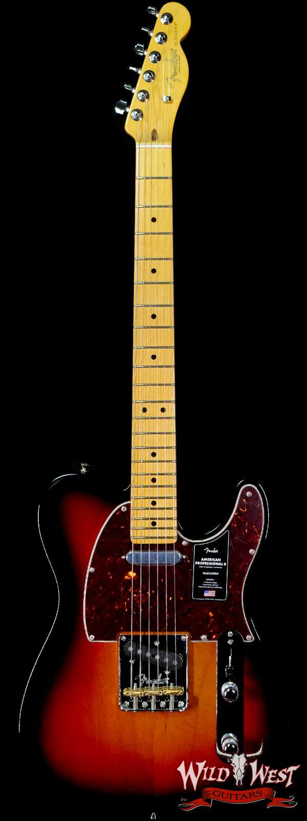 Fender American Professional II Telecaster Maple Fingerboard 3-Color Sunburst