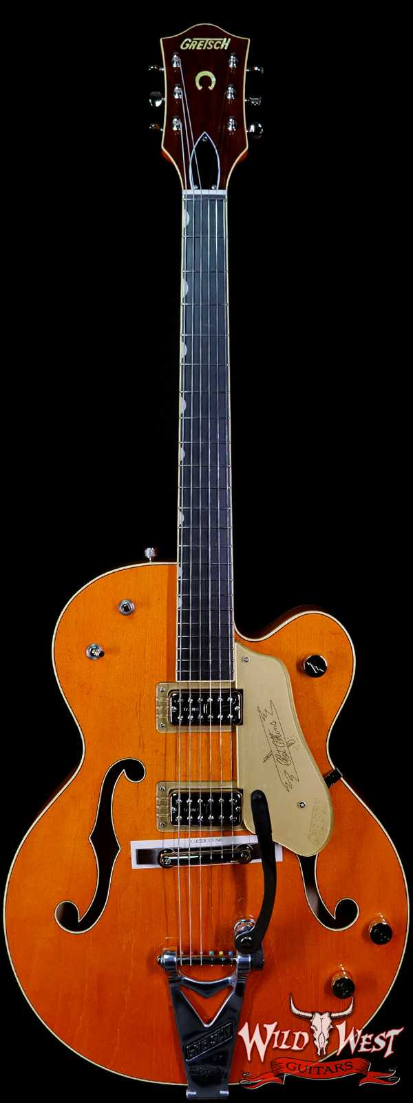 Gretsch G6120T-59 Vintage Select Edition '59 Chet Atkins Hollow Body with Bigsby Vintage Orange Stain Lacquer