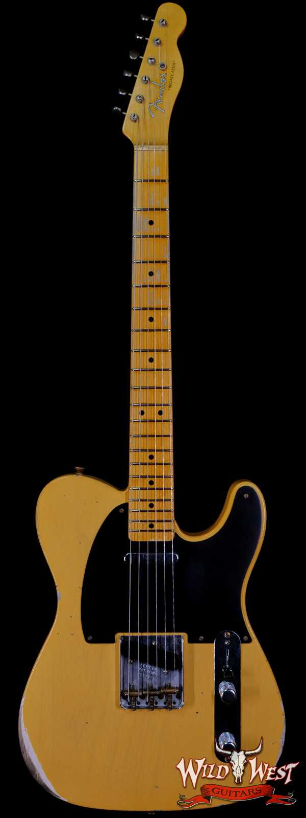 Fender Custom Shop Limited Edition 70th Anniversary Broadcaster (Telecaster) Relic Nocaster Blonde R107373