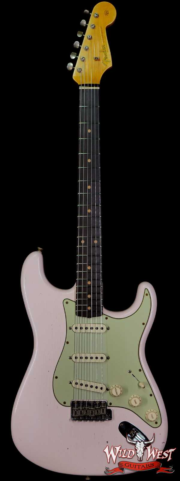 Fender Custom Shop Limited 1960 Stratocaster Dark Rosewood Slab Board Hand-Wound Pickups Journeyman Relic Super Faded Shell Pink