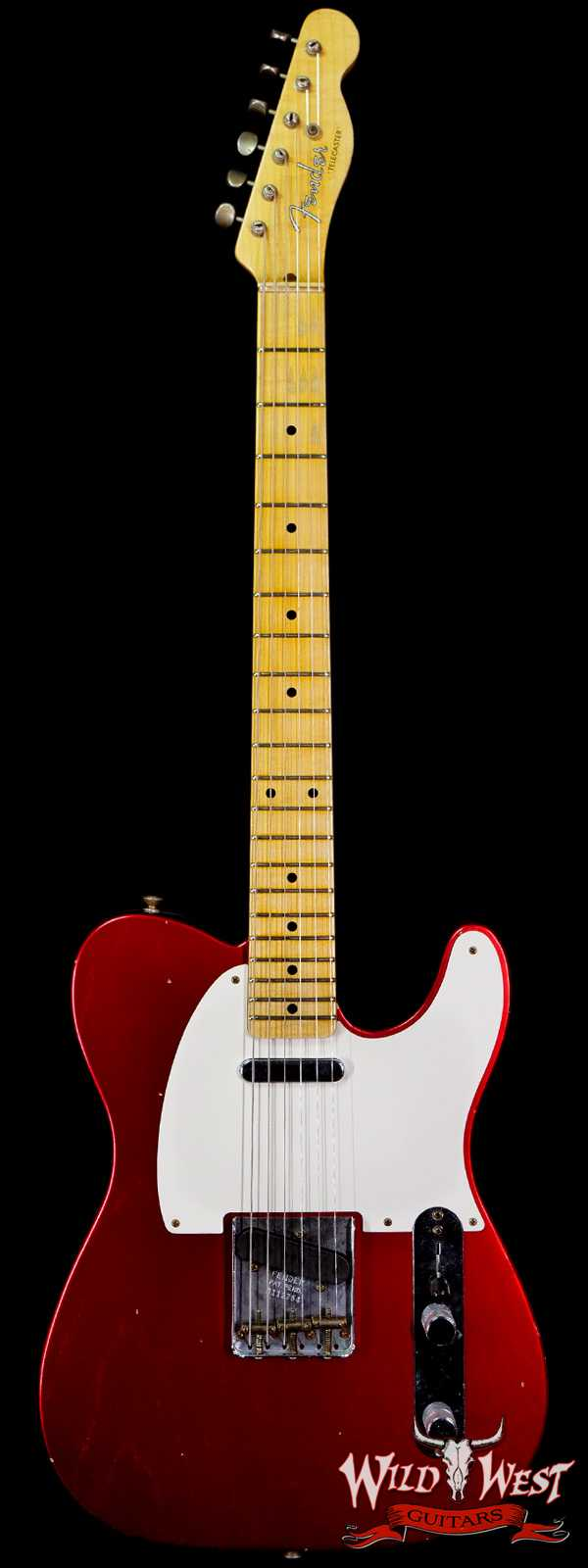 Fender Custom Shop 1950's Telecaster Hand-Wound Pickups Journeyman Relic Candy Apple Red
