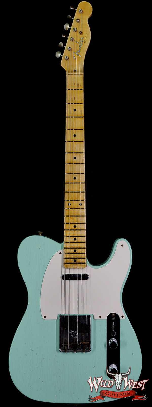 Fender Custom Shop 1950's Telecaster Hand-Wound Pickups Journeyman Relic Surf Green