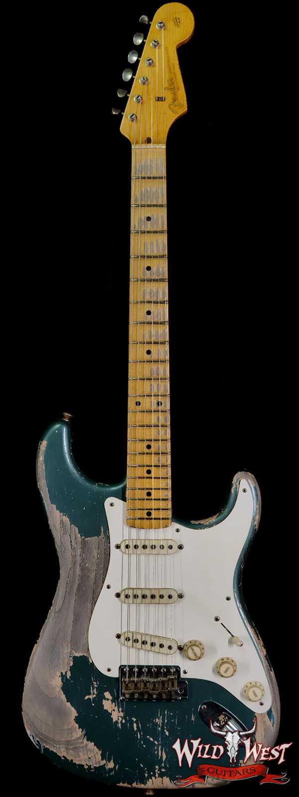 Fender Custom Shop Greg Fessler Masterbuilt 1957 Stratocaster Josefina H/W Pickups Heavy Relic Sherwood Green Metallic 7.00 LBS