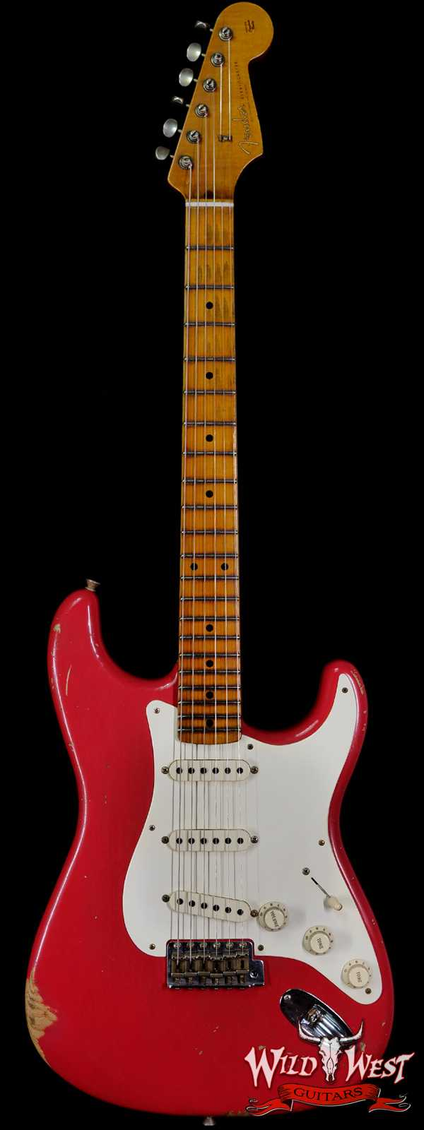Fender Custom Shop Carlos Lopez Masterbuilt 1956 Ash Stratocaster Hand-Wound Pickups Relic Fiesta Red