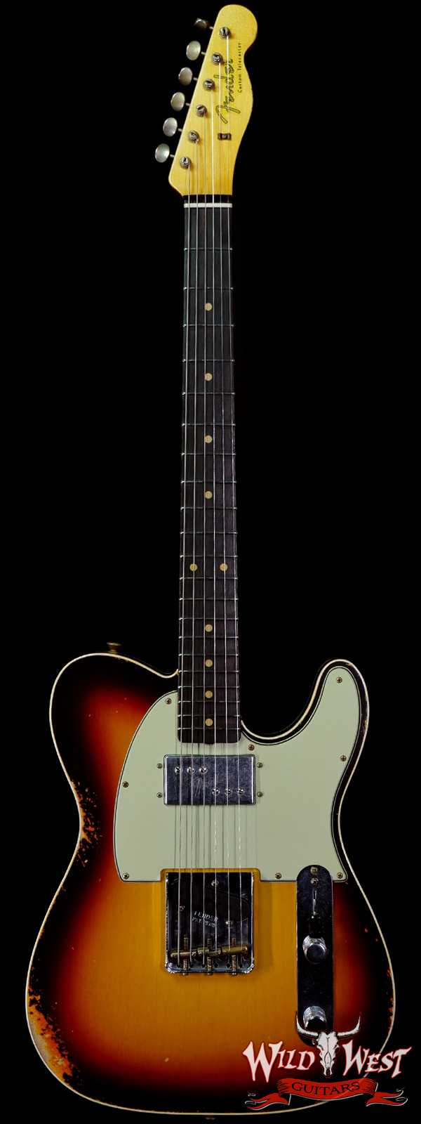 Fender Custom Shop Limited Edition Cunife Telecaster Custom Relic Rosewood Faded Aged Chocolate 3-Color Sunburst