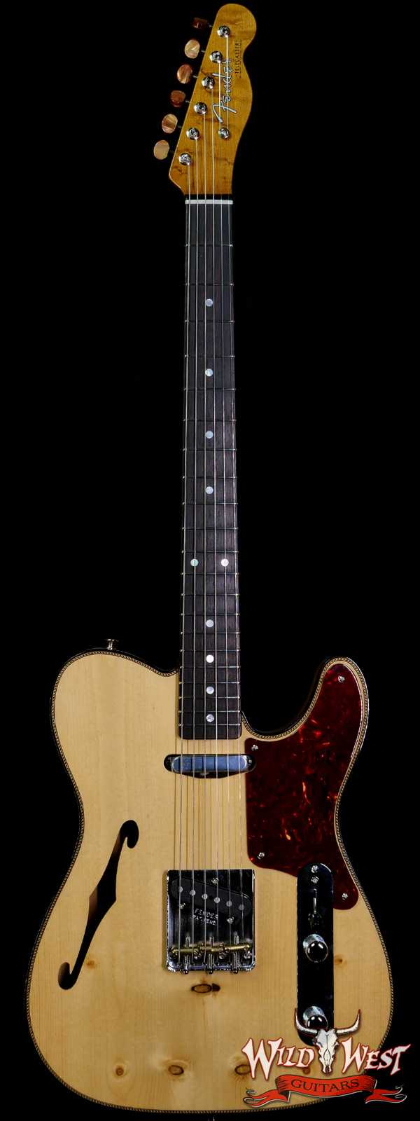 Fender Custom Shop Ltd Knotty Pine Telecaster Thinline Hand-Wound Pickups Aged Natural