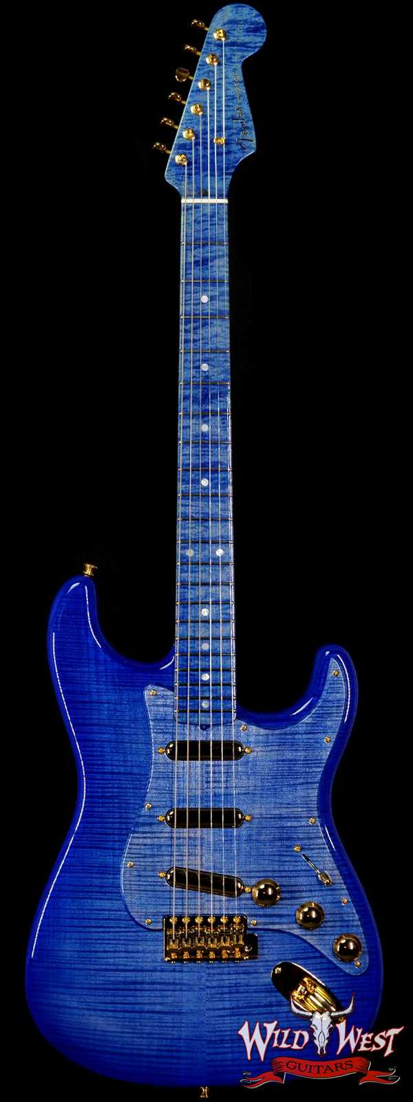 Fender Custom Shop Kyle McMillin Masterbuilt Flame Maple 60's Stratocaster NOS Royal Blue Hand-Wound Pickups