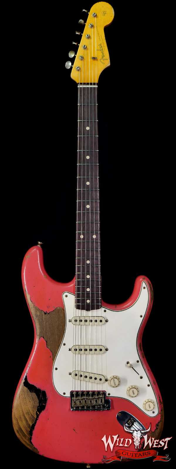 Fender Custom Shop Ron Thorn Masterbuilt 1964 Stratocaster Josefina Hand-Wound Pickups Heavy Relic Fiesta Red over Black