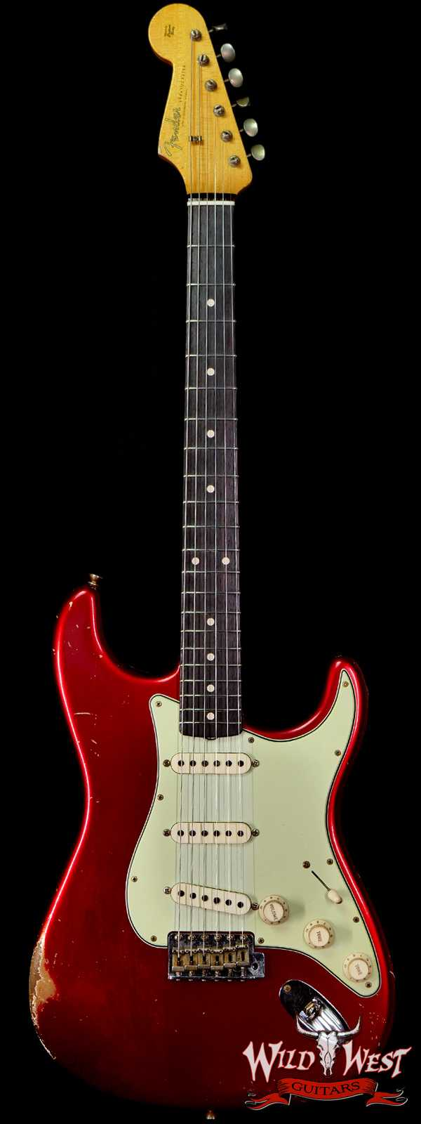 Fender Custom Shop Ron Thorn Masterbuilt 1960 Stratocaster Reverse Headstock Josefina Hand-Wound Pickups Relic Candy Apple Red