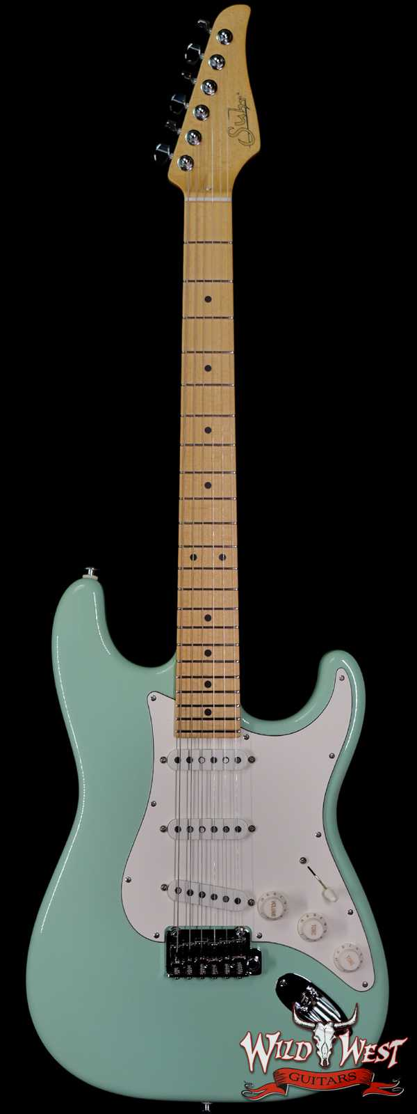 Suhr Classic S SSS Quater-Sawn Maple Neck and Fingerboard Surf Green