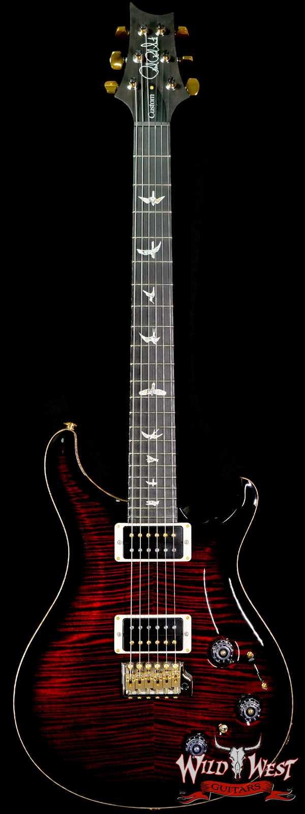 Paul Reed Smith PRS 10 Top Custom 22 Piezo P22 Ebony Fingerboard Fire Red Smokeburst