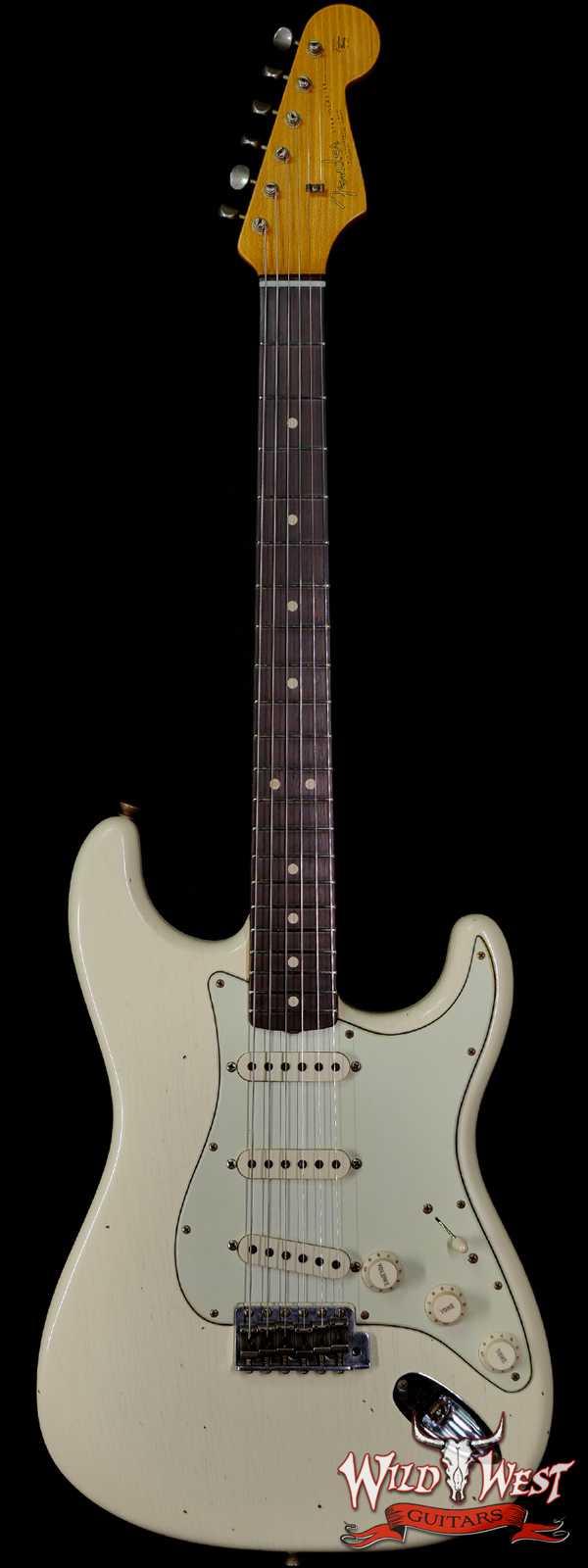 Fender Custom Shop 1963 Stratocaster Hand-Wound Pickups Journeyman Relic Vintage White