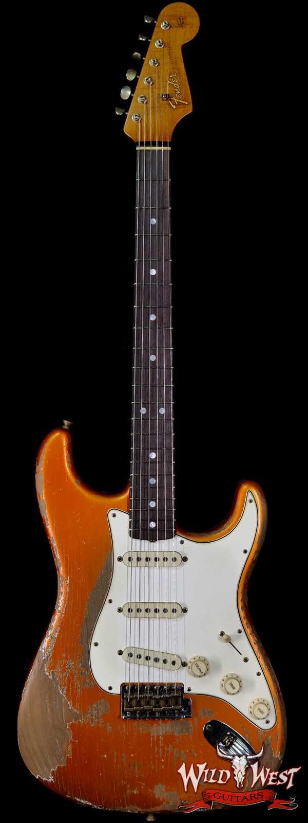 Fender Custom Shop Greg Fessler Masterbuilt 1965 Roasted Stratocaster Josefina H/W Pickups Heavy Relic Candy Tangerine