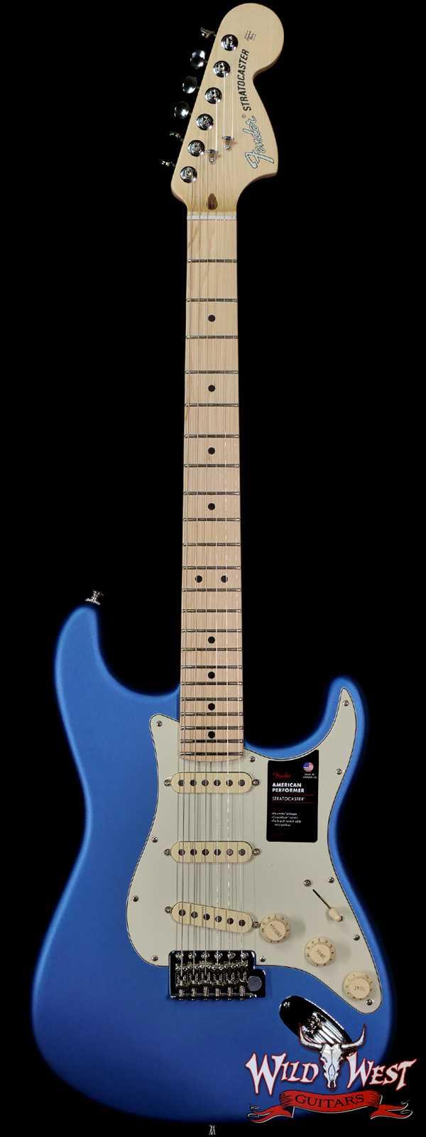 Fender American Performer Stratocaster Maple Fingerboard Satin Lake Placid Blue (Blemish)