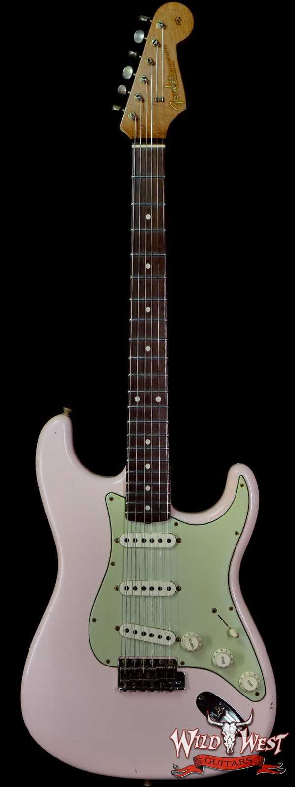 Fender Custom Shop Dennis Galuszka Masterbuilt Roasted 1959 Stratocaster Brazilian Rosewood Slab Board Hand-Wound PUs Journeyman Relic Aged Shell Pink