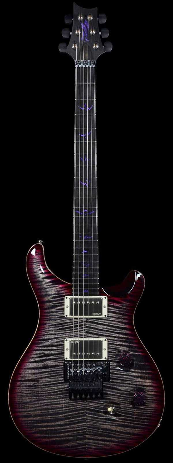 PRS Private Stock Custom 24 Vampire Floyd Charcoal Purple Burst w/ Floyd Rose