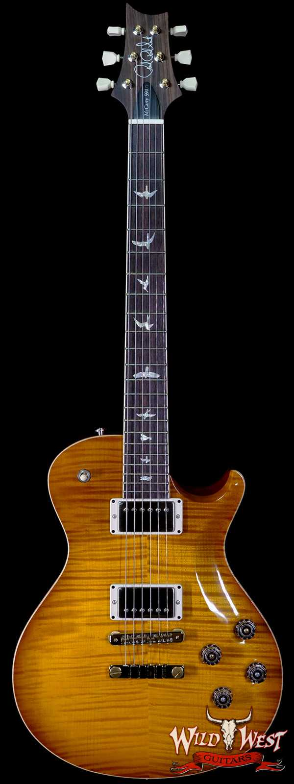 Paul Reed Smith PRS Core McCarty 594 Singlecut Flame Maple Top East Indian Rosewood Board McCarty Sunburst