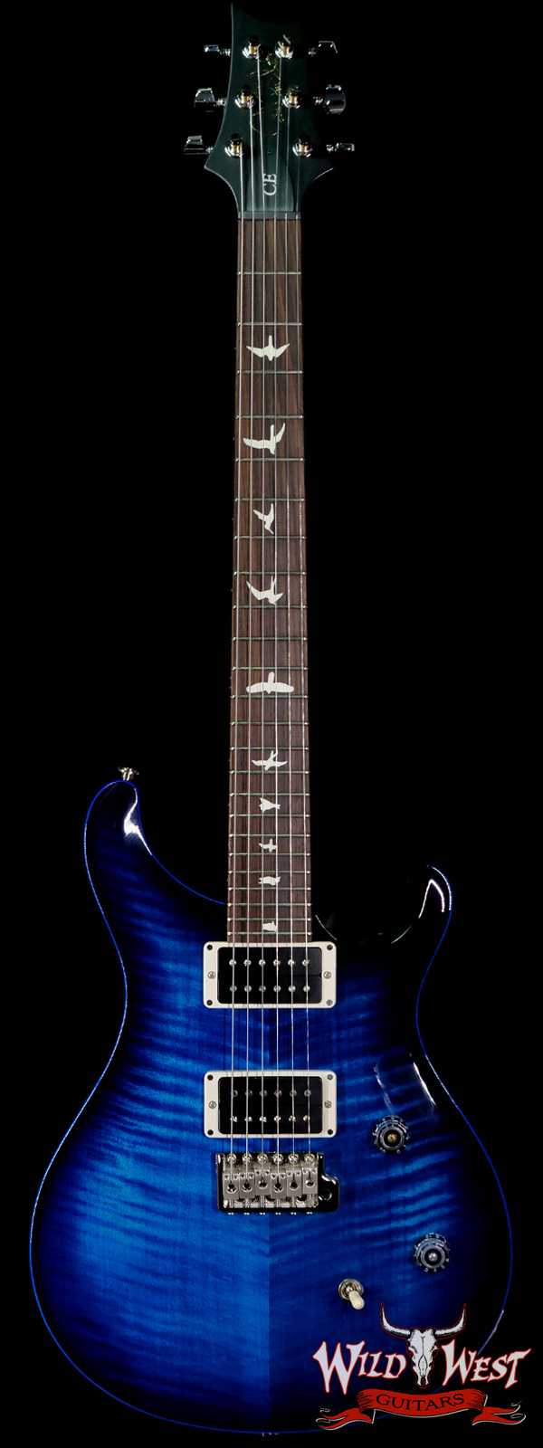 Paul Reed Smith PRS CE 24 Painted Black Neck & Headstock Sapphire Burst
