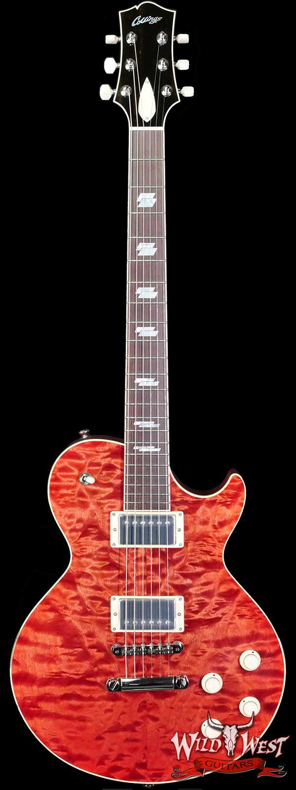 Collings CL Series City Limits Deluxe Premium Quilt Top Faded Cherry