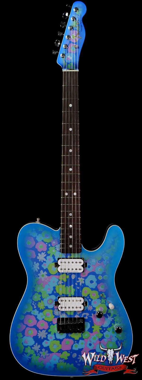 Fender Custom Shop Carlos Lopez Masterbuilt 1967 Ash Telecaster Custom HH Roasted Maple Neck NOS Blue Flower