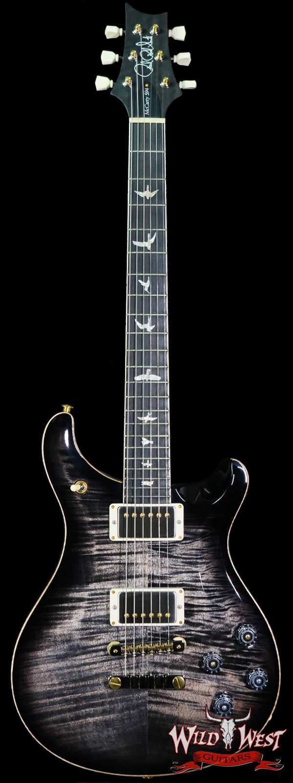 Paul Reed Smith PRS Core 10 Top McCarty 594 Flame Maple Top Ebony Fingerboard Charcoal Burst