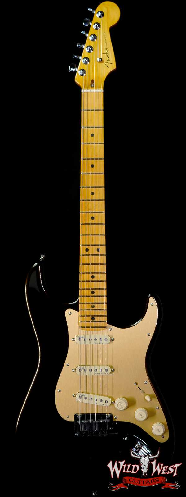 Fender American Ultra Stratocaster SSS Maple Fingerboard with S-1 Switch Texas Tea