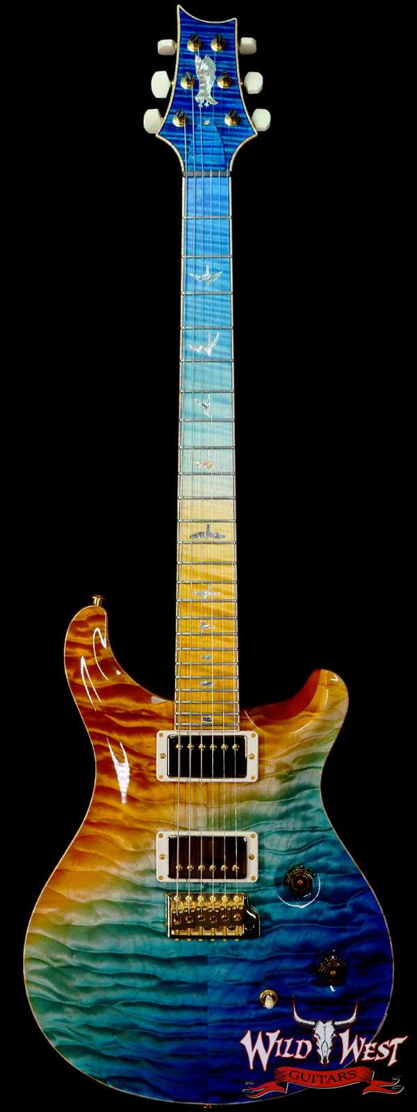 Paul Reed Smith PRS Private Stock # 9123 Quilt Top Custom 24 Brazilian Rosewood Neck Beach Cross Fade
