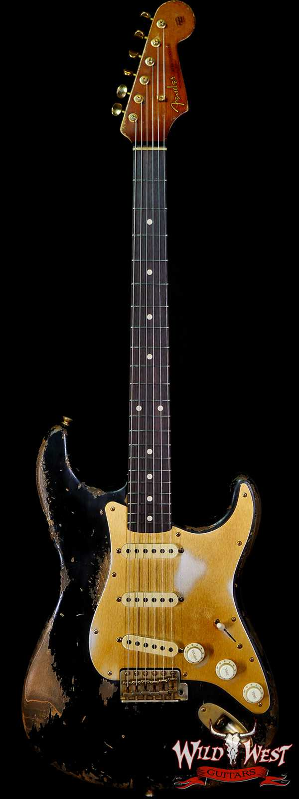Fender Custom Shop Vincent Van Trigt Masterbuilt 1961 Stratocaster Heavy Relic Black