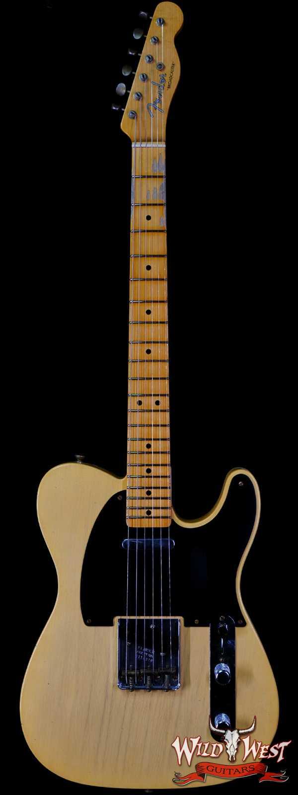 Fender Custom Shop Limited Edition 70th Anniversary Broadcaster (Telecaster) Jorneyman Relic Nocaster Blonde R112329
