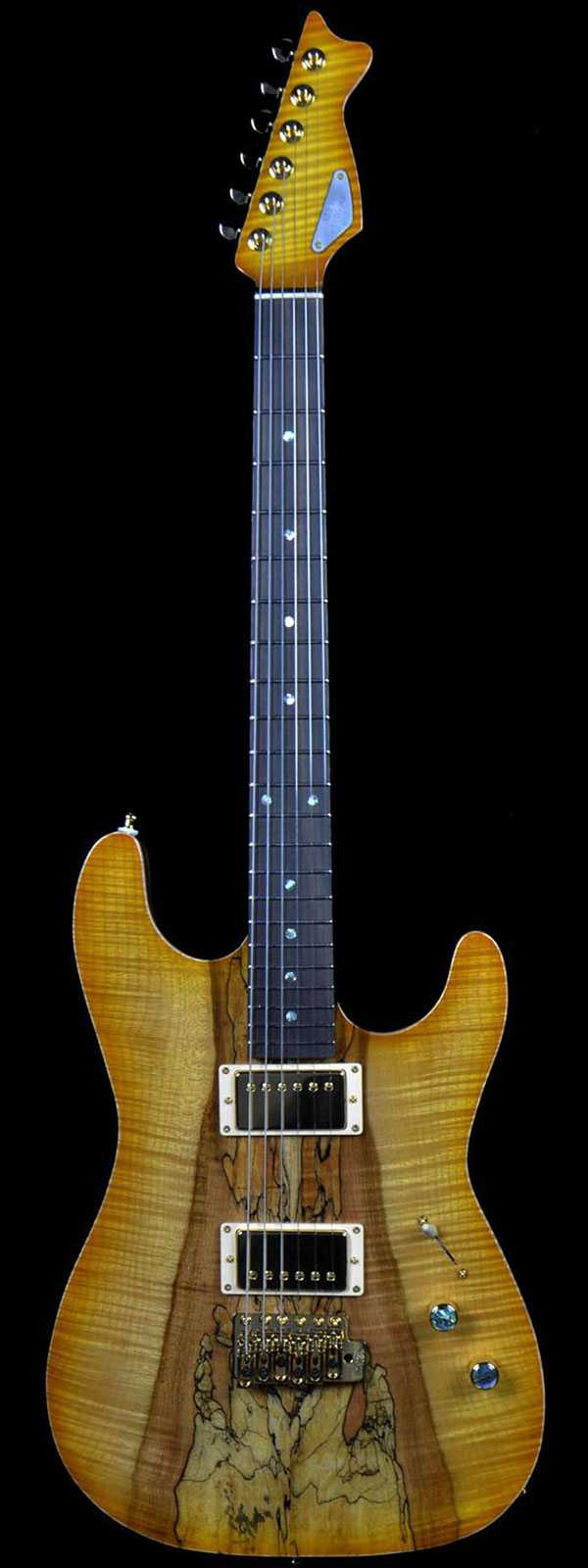 "RH Custom Guitars #13 ""The Spalted Flame"""