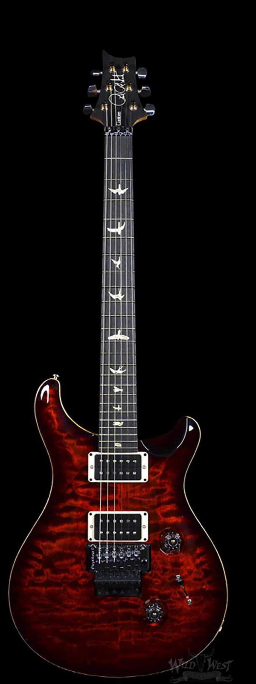 24 Best Fall Makeup Looks And Trends For 2019: PRS Floyd Custom 24 Fire Red Burst Ten Top