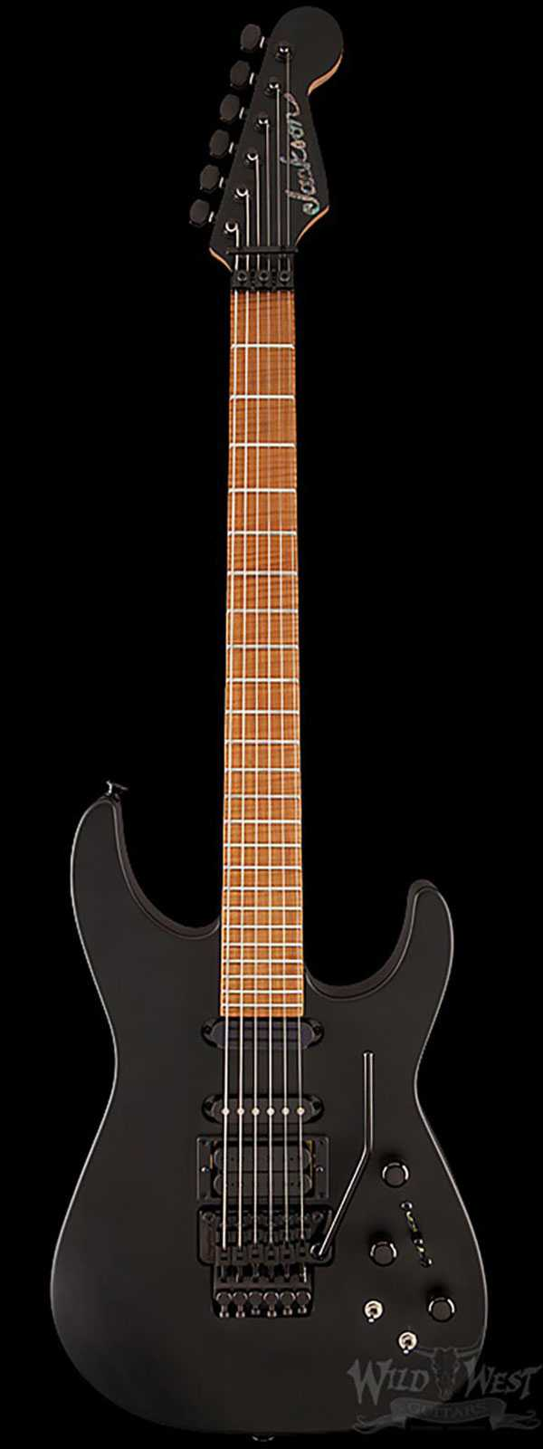 Jackson Custom Shop Special Edition PC1 Maple Fingerboard Satin Black - One of 25 Made