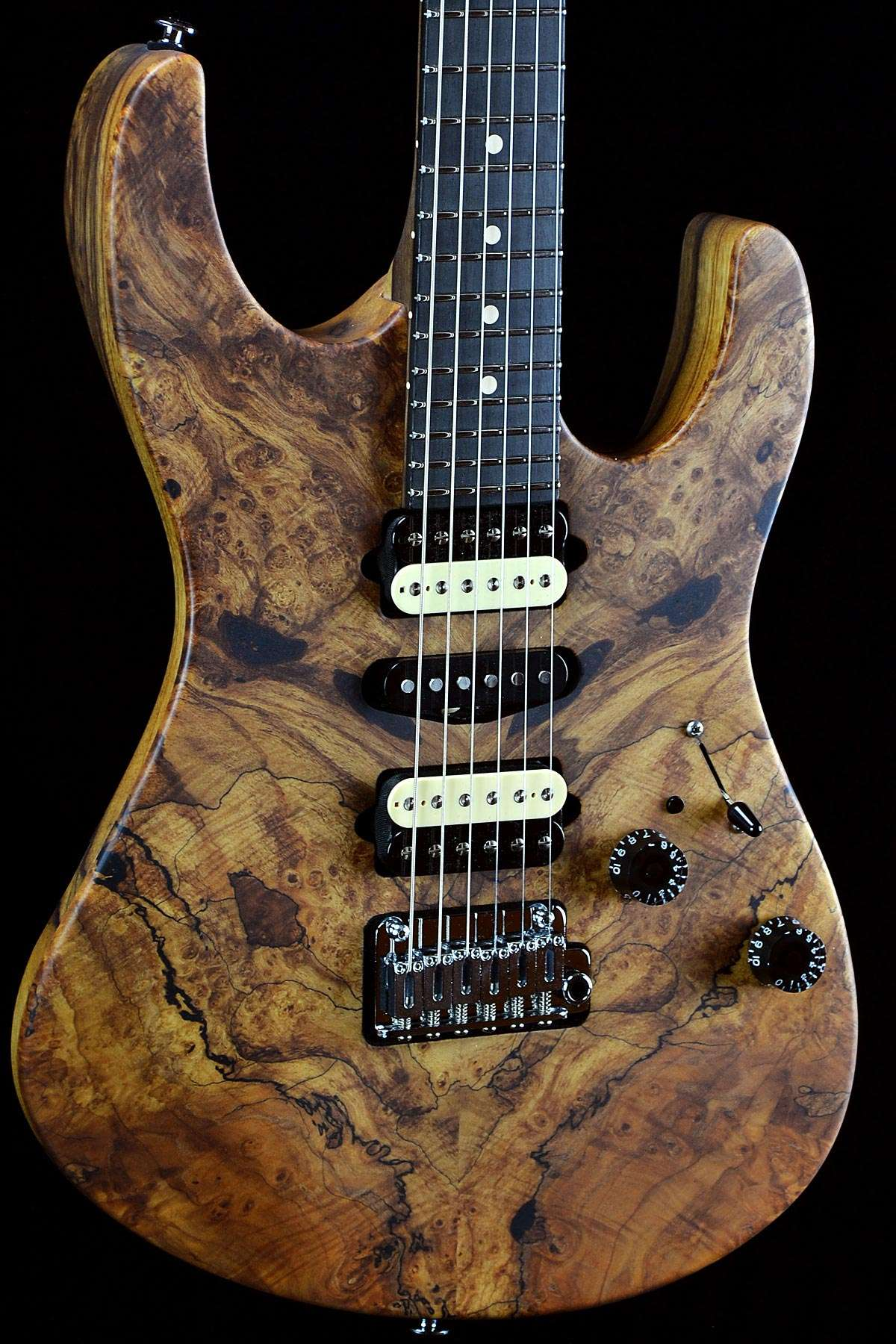 suhr custom modern natural spalted maple satin top w. Black Bedroom Furniture Sets. Home Design Ideas