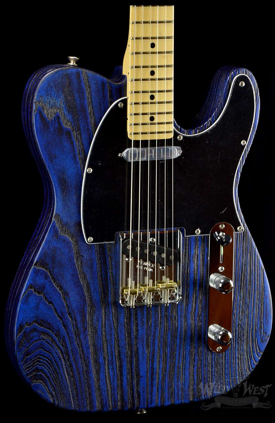 Fender usa limited edition sandblasted telecaster sapphire blue wild west authentic publicscrutiny Gallery
