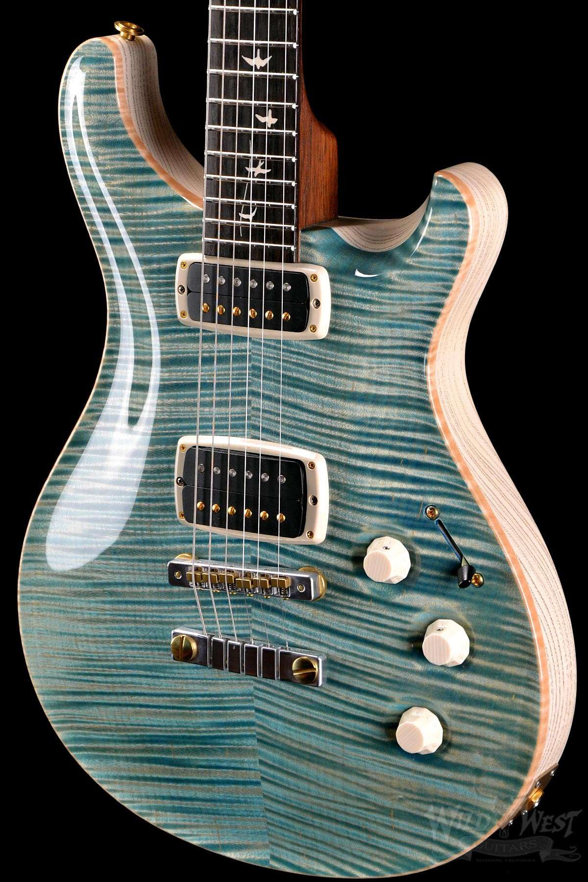 4409b2095f5 PRS Paul Reed Smith DC245 Private Stock 5122 Double Faded Turquoise -  Preowned - Wild West Guitars