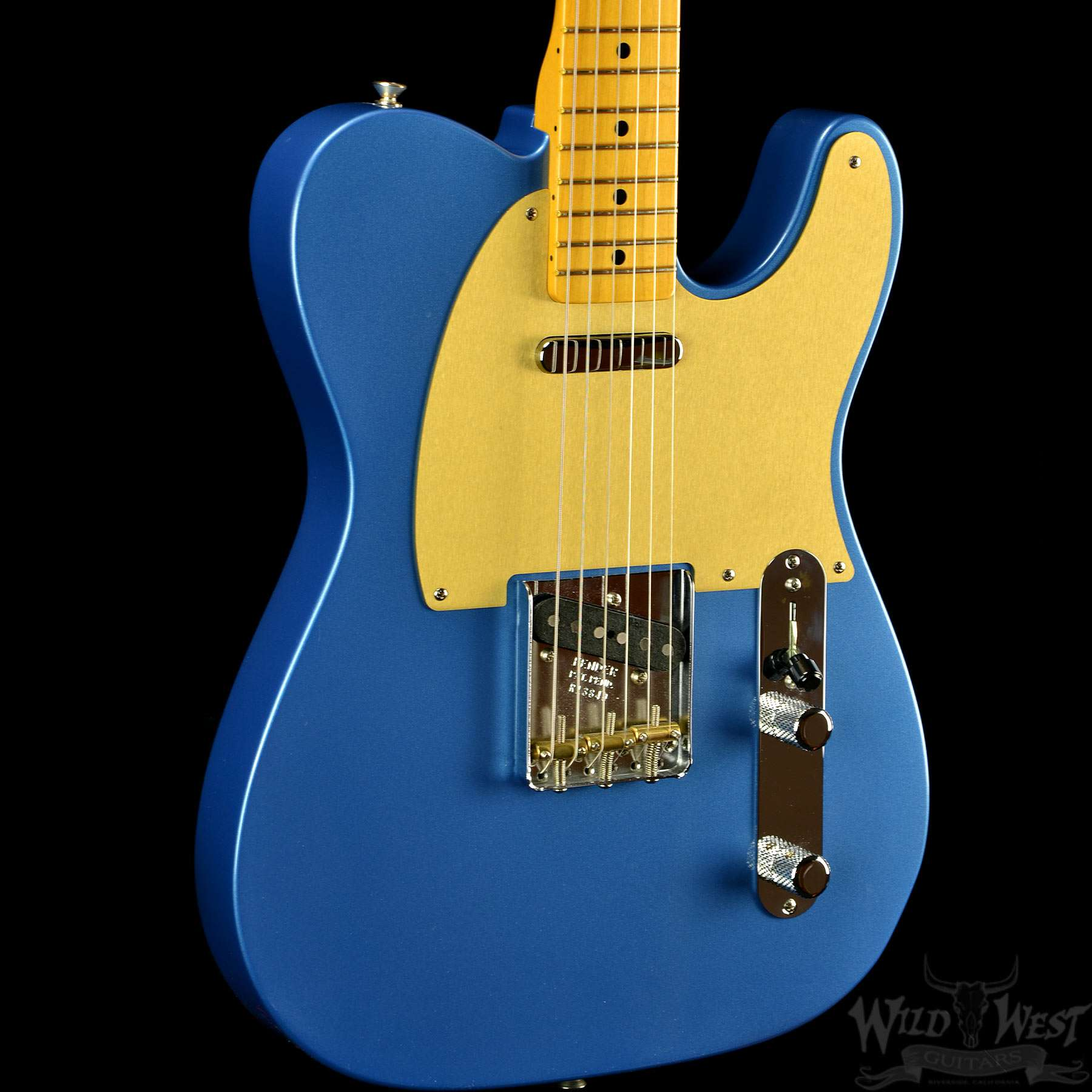Fender '56 Telecaster NOS Metallic Lake Placid Blue Gold Anodized Pickguard  - Preowned