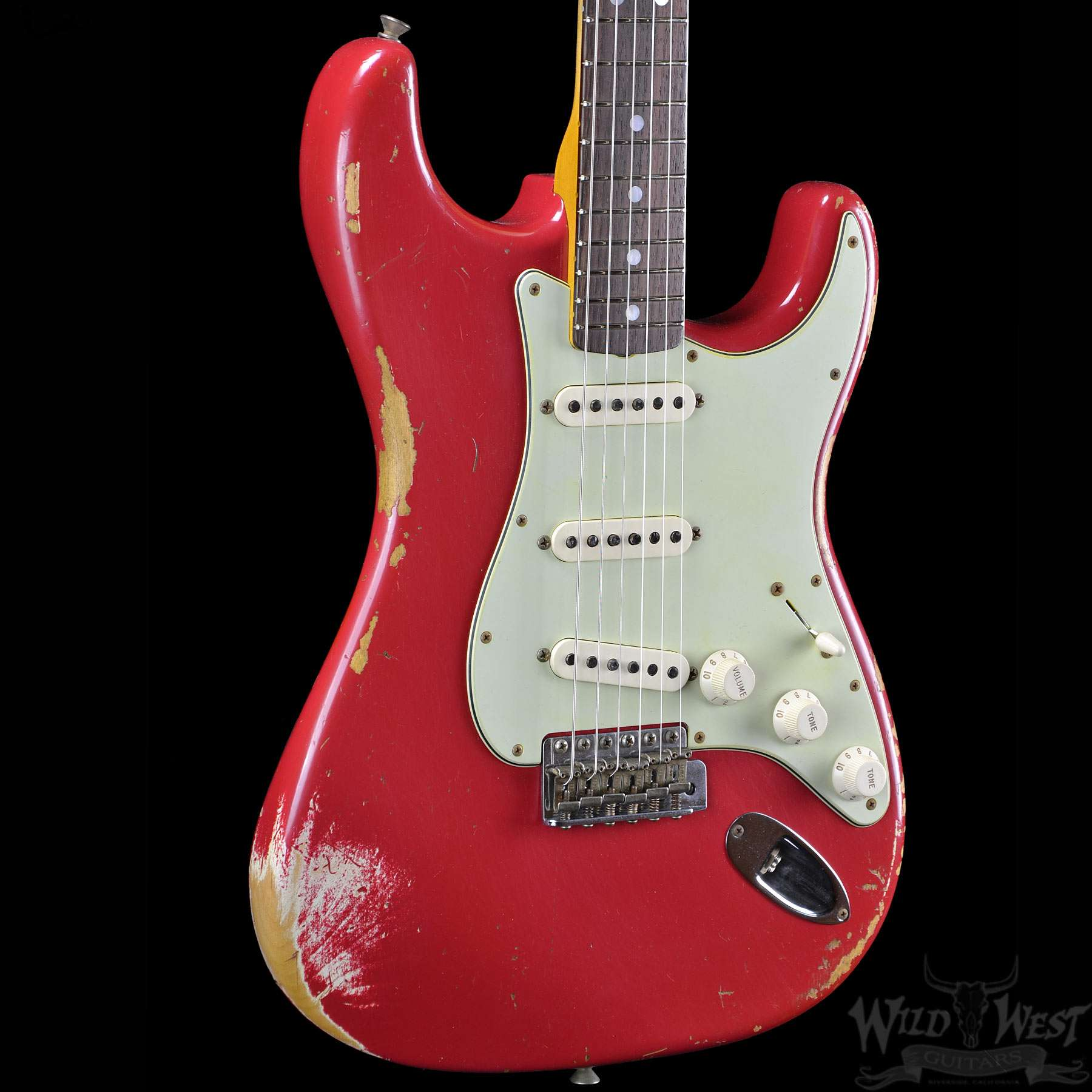 fender 1965 stratocaster heavy relic dakota red wild west guitars. Black Bedroom Furniture Sets. Home Design Ideas