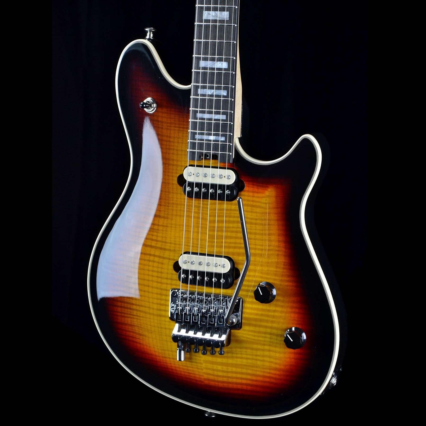 EVH Wolfgang USA 5A 3-Tone Sunburst Electric Guitar with case