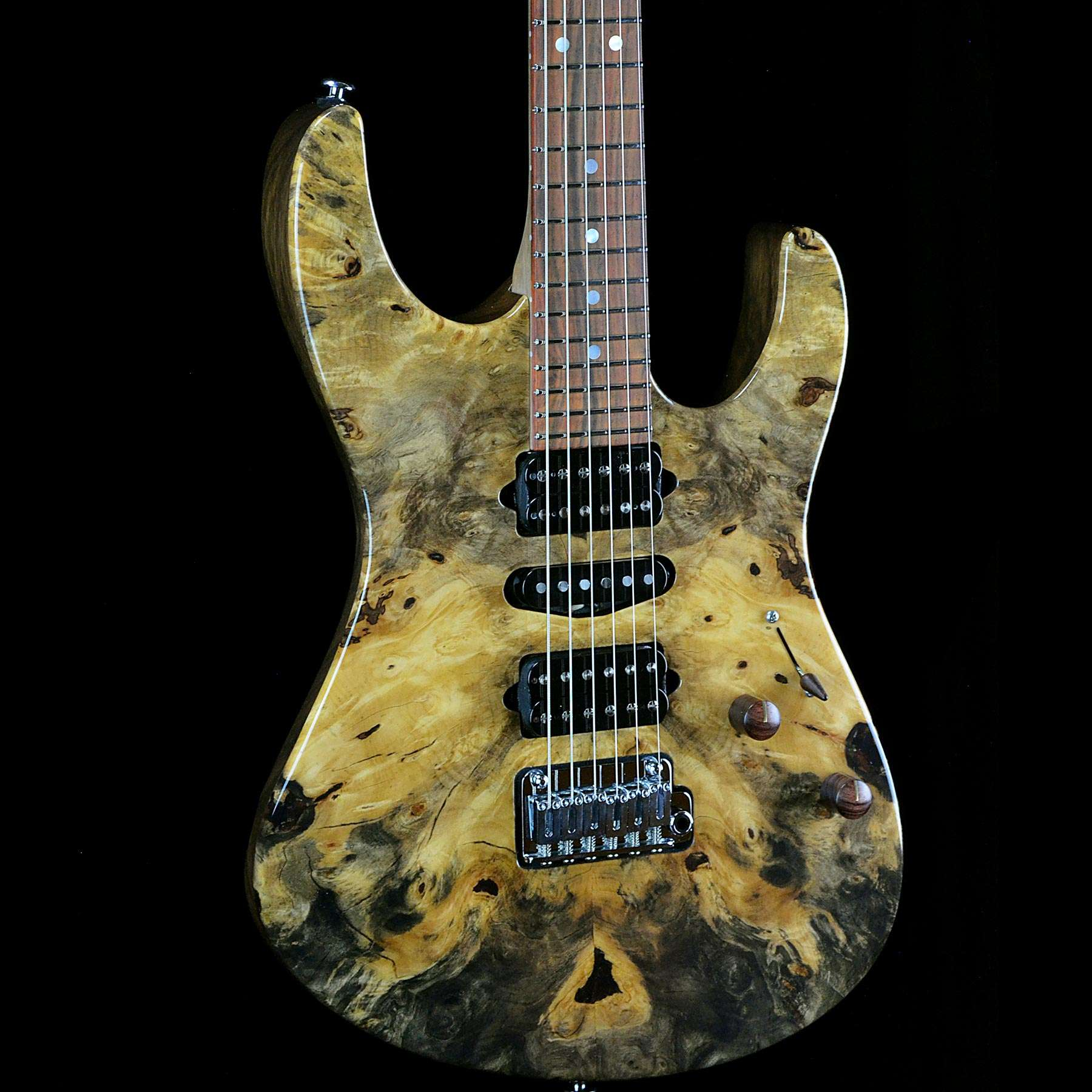 suhr custom modern buckeye burl natural with black limba. Black Bedroom Furniture Sets. Home Design Ideas