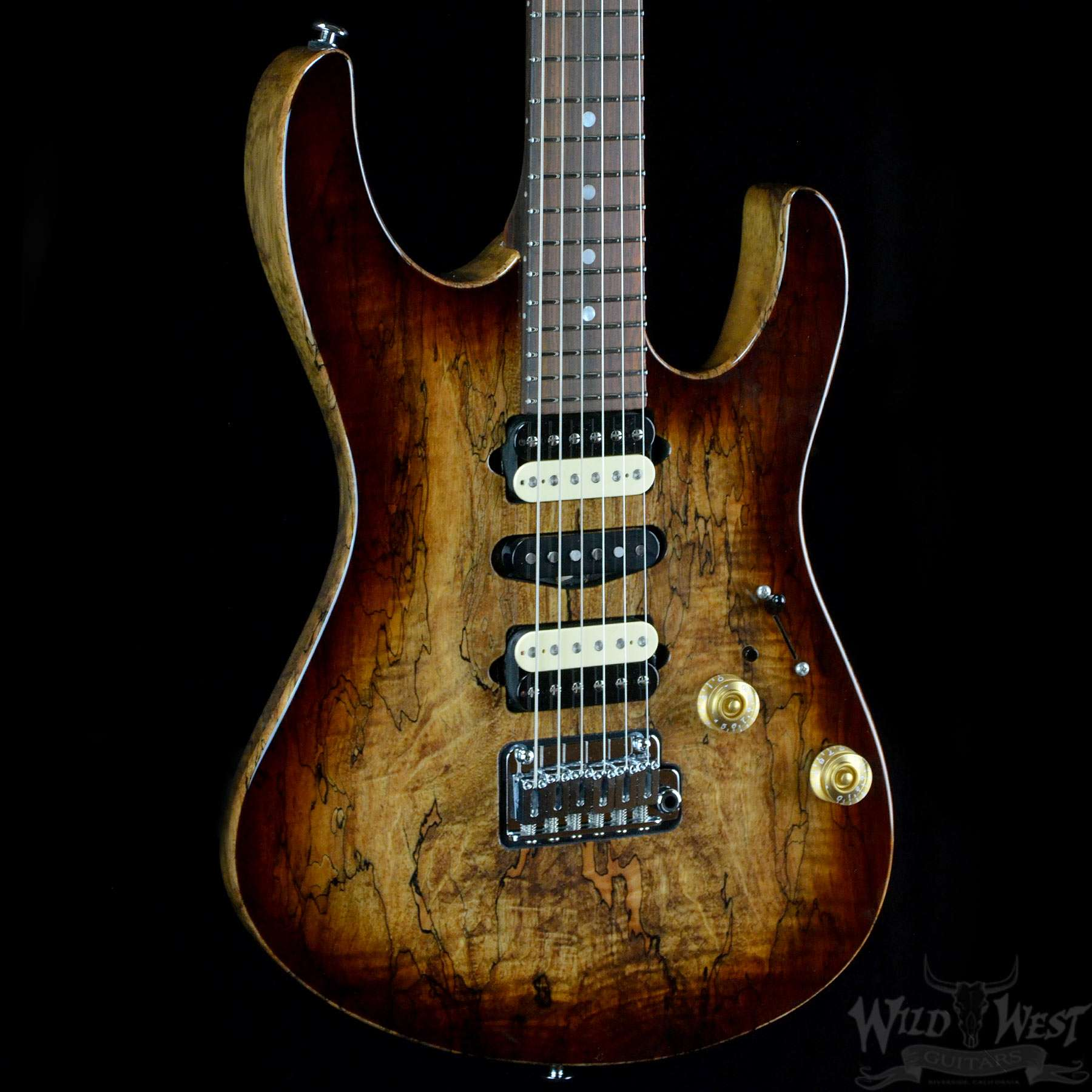 suhr modern spalted maple brown burst wild west guitars. Black Bedroom Furniture Sets. Home Design Ideas