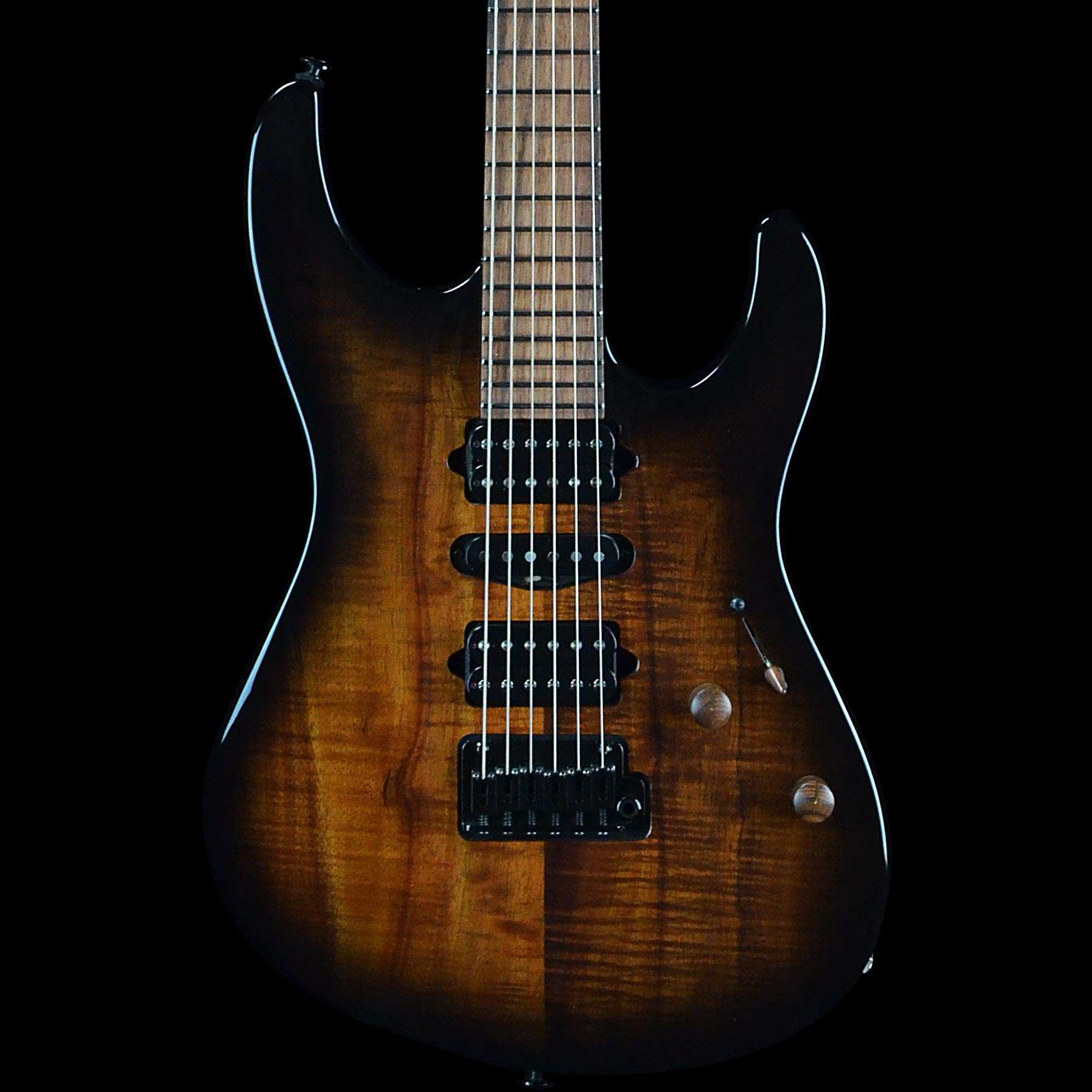 suhr custom modern curly koa black burst w pau ferro neck. Black Bedroom Furniture Sets. Home Design Ideas