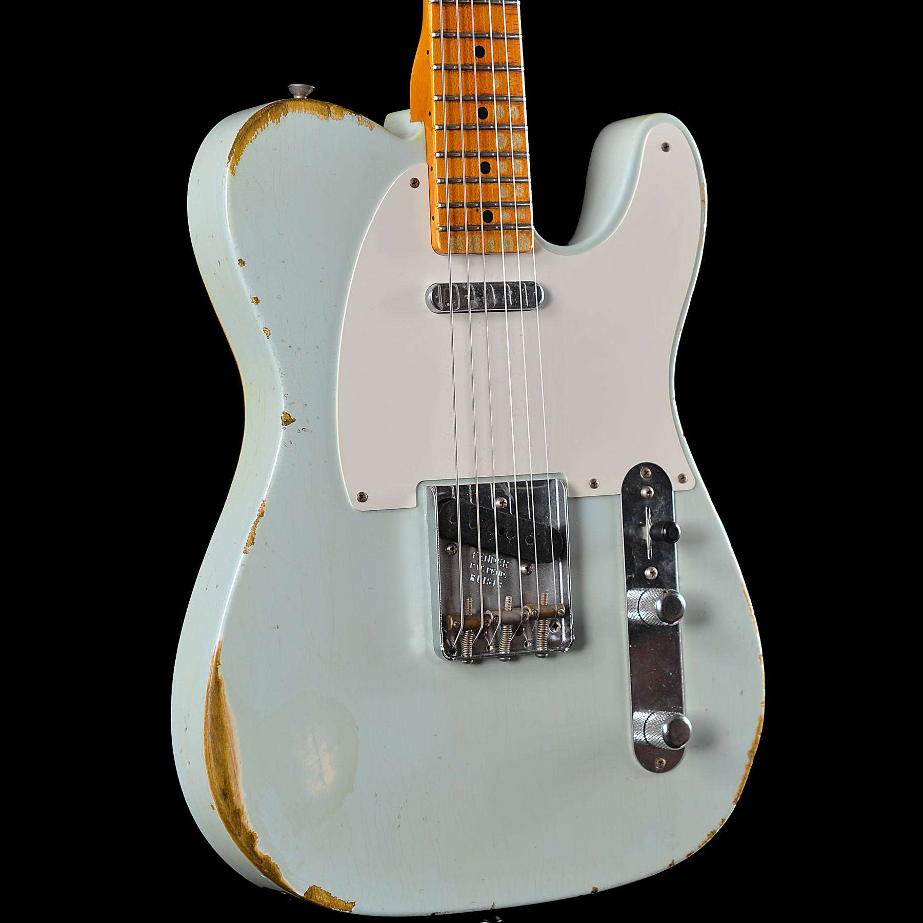 fender 1952 telecaster heavy relic faded sonic blue streamlined u neck wild west guitars. Black Bedroom Furniture Sets. Home Design Ideas