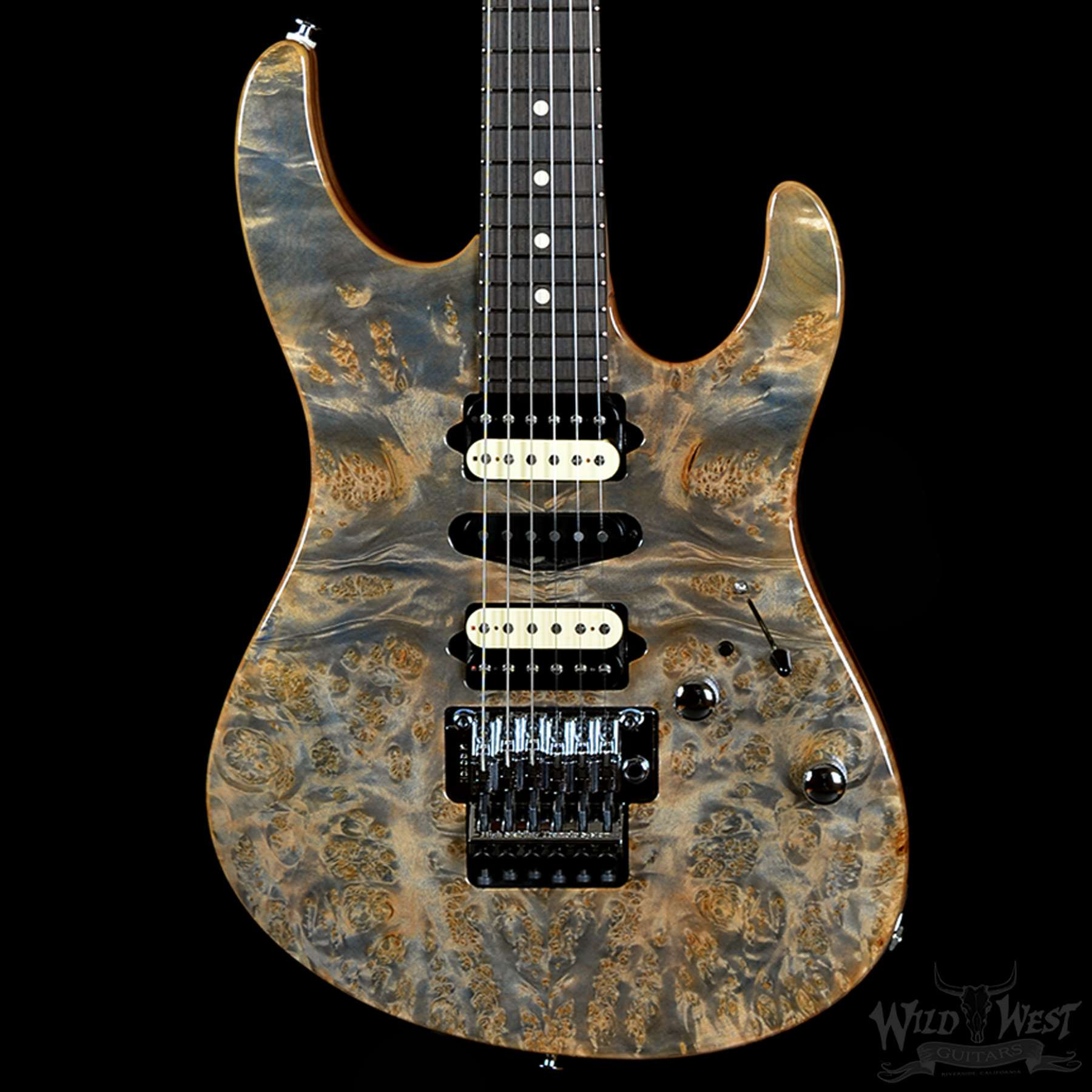 suhr modern burl trans blue denim slate w satin african. Black Bedroom Furniture Sets. Home Design Ideas