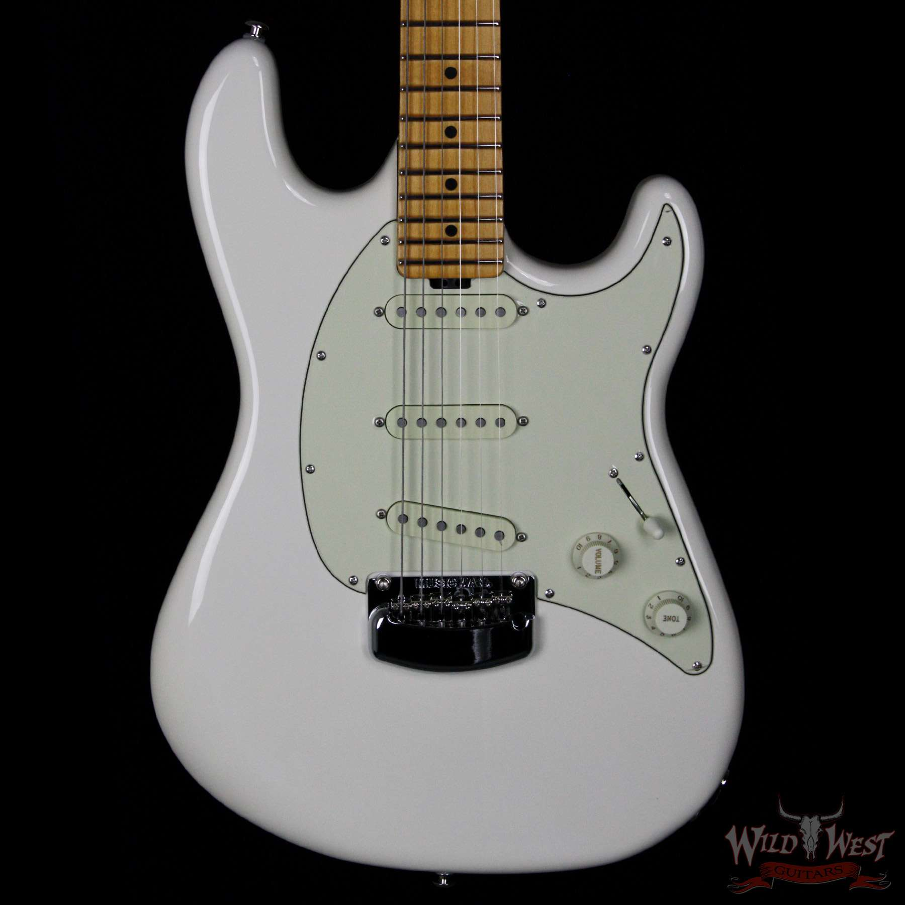 Ernie Ball Music Man Cutlass Ivory White - Wild West Guitars