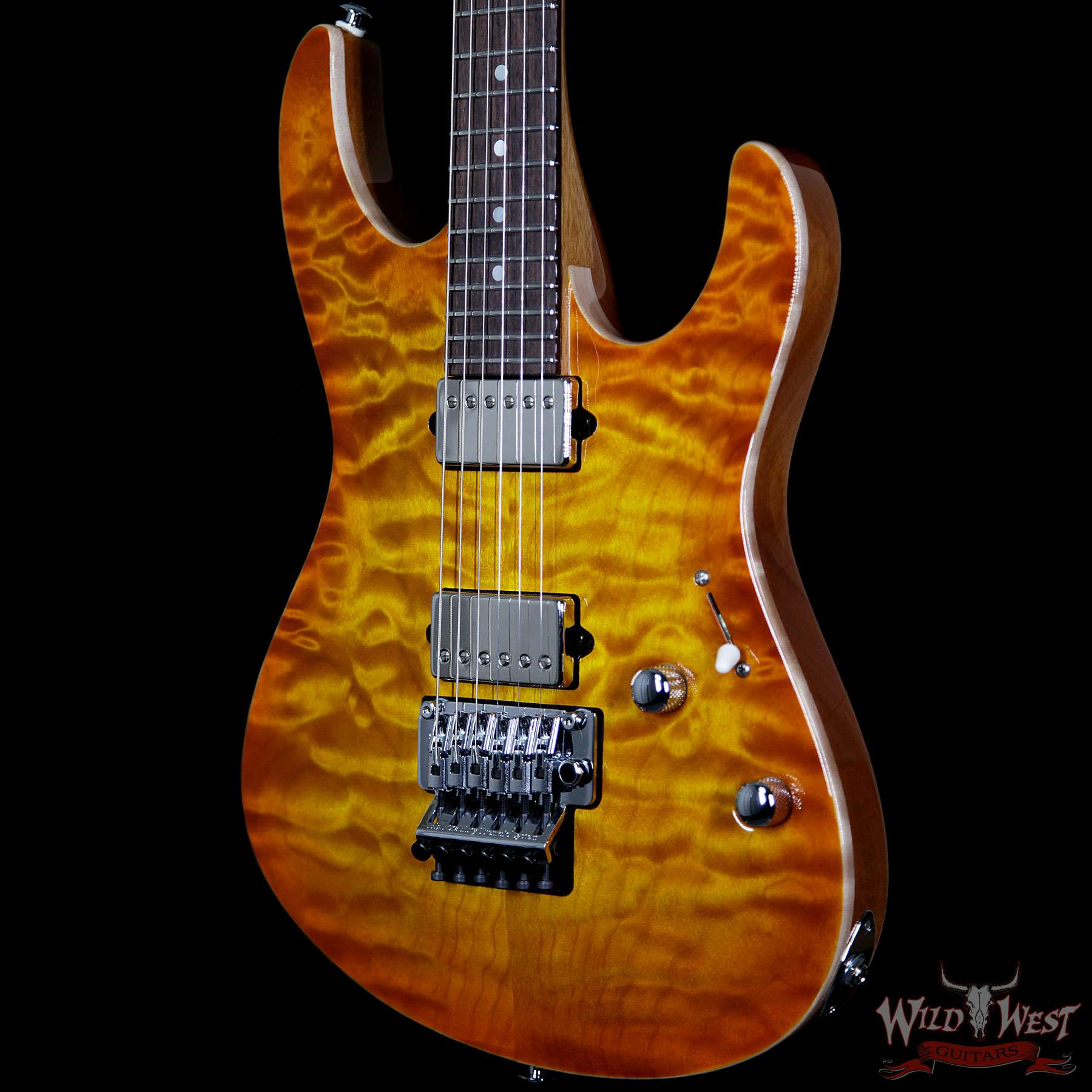 Suhr modern carve top set neck quilt maple indian