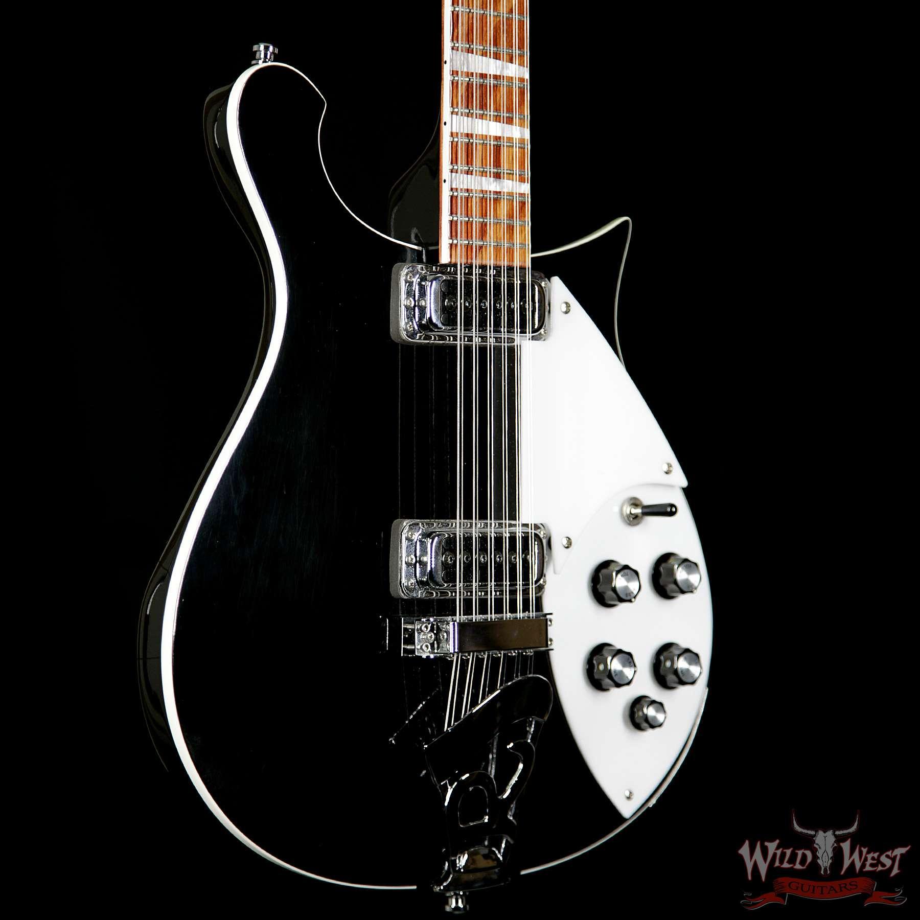 2009 rickenbacker 620 12 thru body rosewood fretboard black 12 string guitar preowned wild. Black Bedroom Furniture Sets. Home Design Ideas