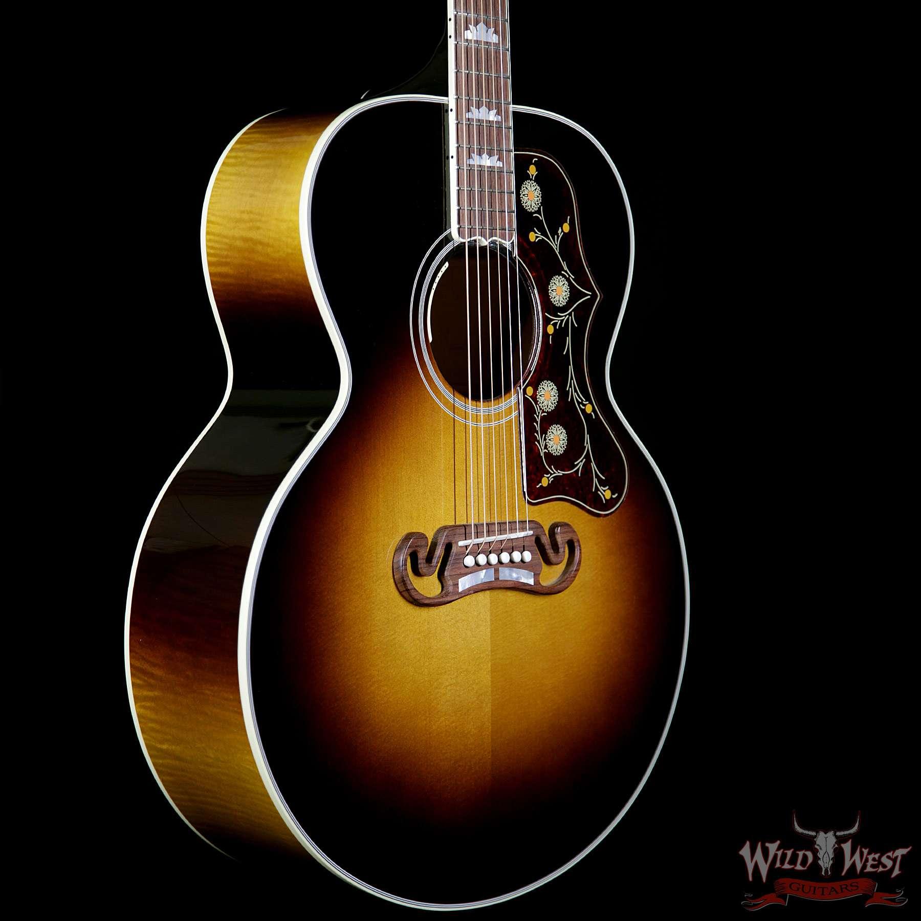 gibson sj 200 standard electric acoustic guitar vintage sunburst wild west guitars. Black Bedroom Furniture Sets. Home Design Ideas