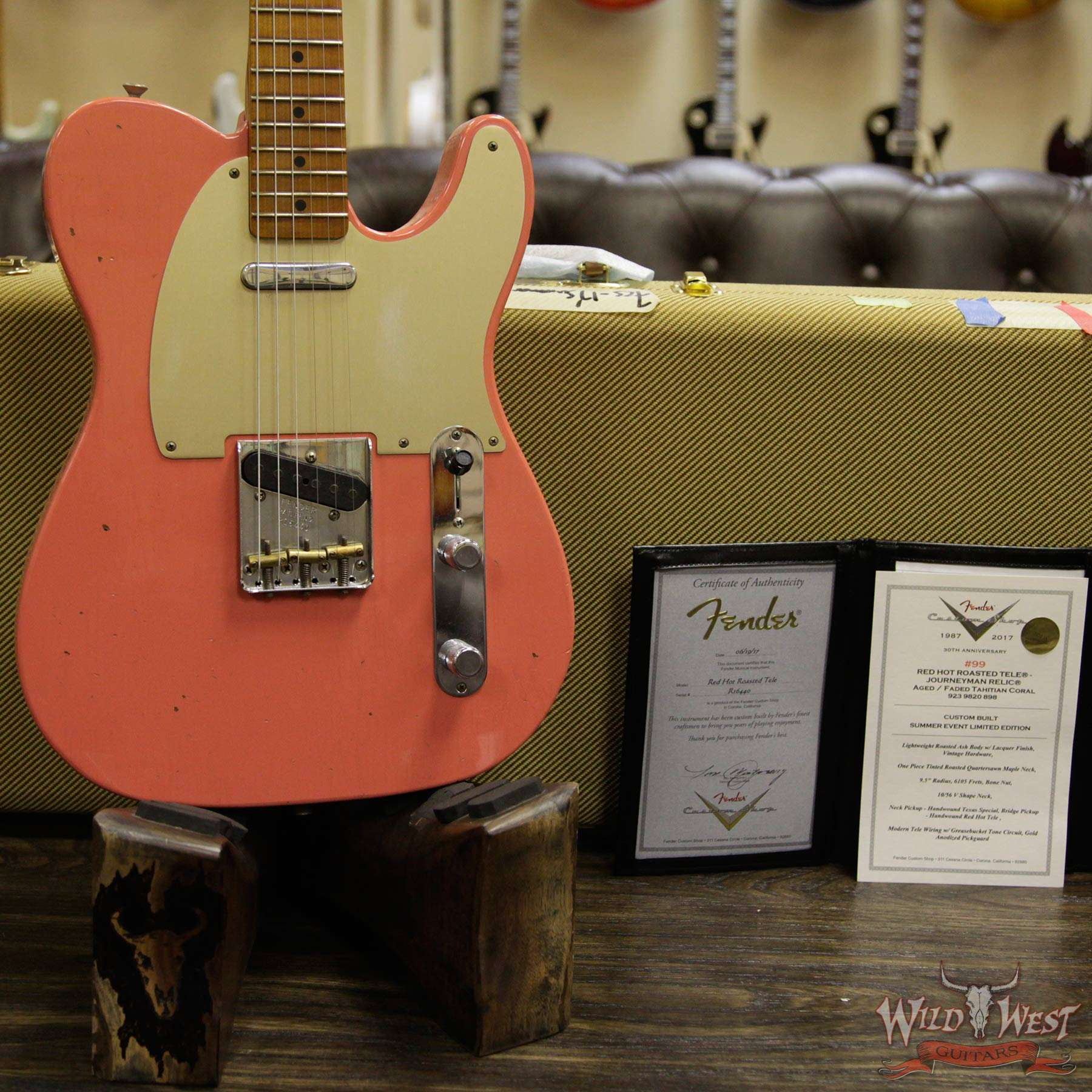 Fender Custom Shop 2017 Summer Event Limited Red Hot Roasted Telecaster Sale On Texas Special Pickups Wiring Wild West Authentic